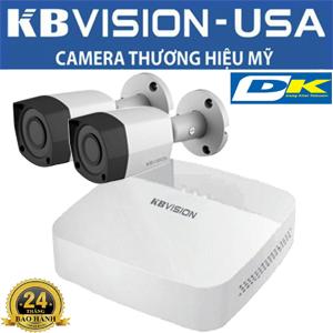 Trọn Bộ 2 Camera Kbvision thân
